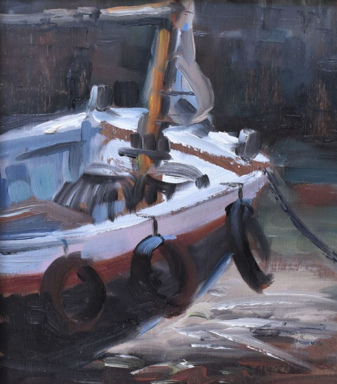 Barrie Bray Original Oil Painting Of A Fishing Boat